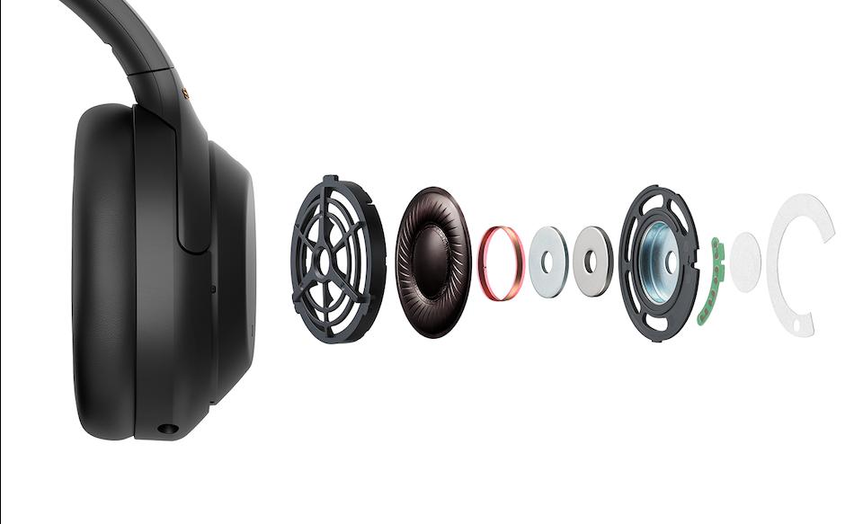 «Взрыв-схема» внутреннего устройства наушников WH-1000XM4
