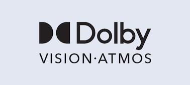 Логотип Dolby Vision® и Dolby Atmos®