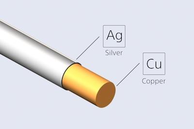 Бескислородная медь с серебряным напылением