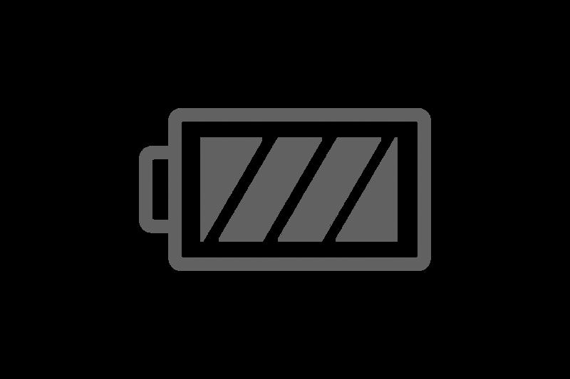 Значок полностью заряженного аккумулятора.