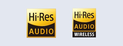 Логотипы Hi-Res Audio и Hi-Res Audio Wireless