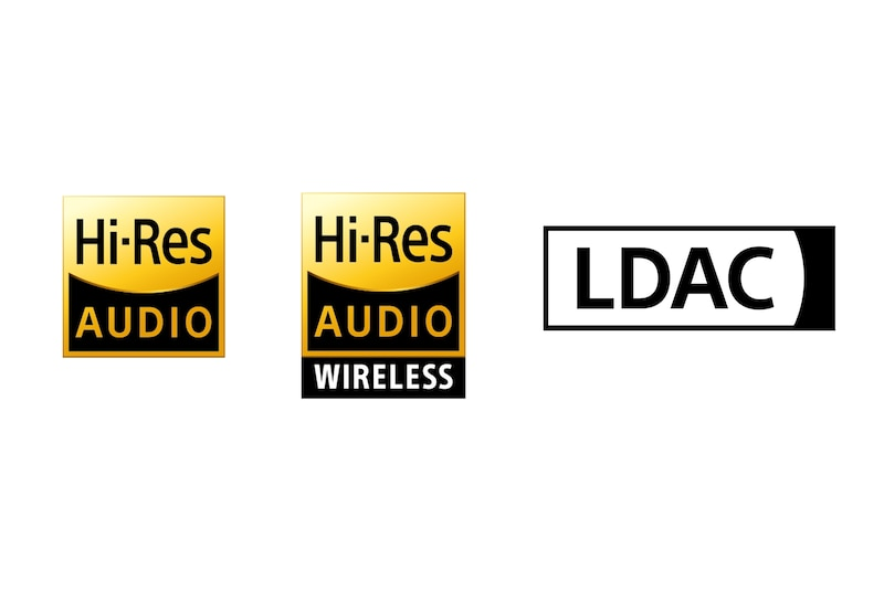 Логотипы аудио высокого разрешения, беспроводного аудио высокого разрешения и LDAC
