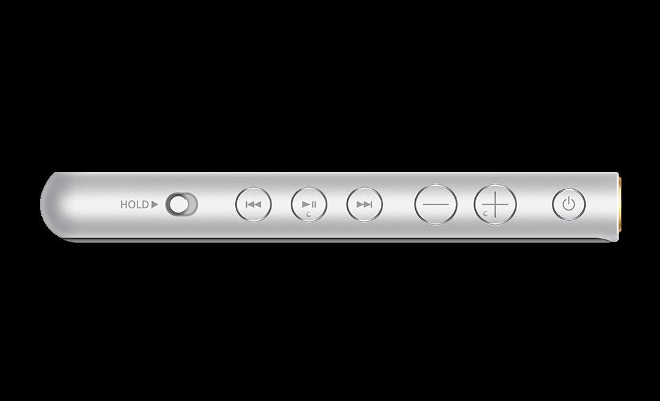 Плеер NW-ZX500 Walkman с кнопками, вид сбоку