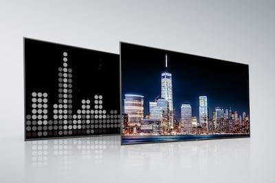 Задняя панель и экран обычного телевизора с полной прямой подсветкой