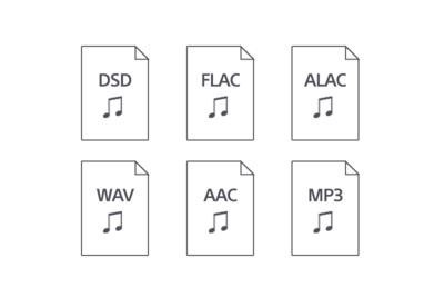 Форматы аудио, совместимые с UBP-X700