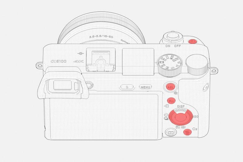 Настраиваемые элементы управления Sony ILCE-6100 / ILCE-6100L / ILCE-6100Y