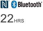 Логотип Bluetooth: 22 часа беспроводного прослушивания музыки
