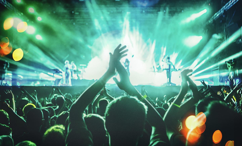 Изображение с музыкальным фестивалем