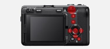 Изображение настраиваемых кнопок на верхней панели корпуса камеры FX3