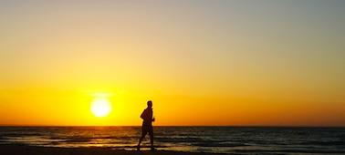 Изображение заката и моря с использованием технологии 4K XR Smoothing