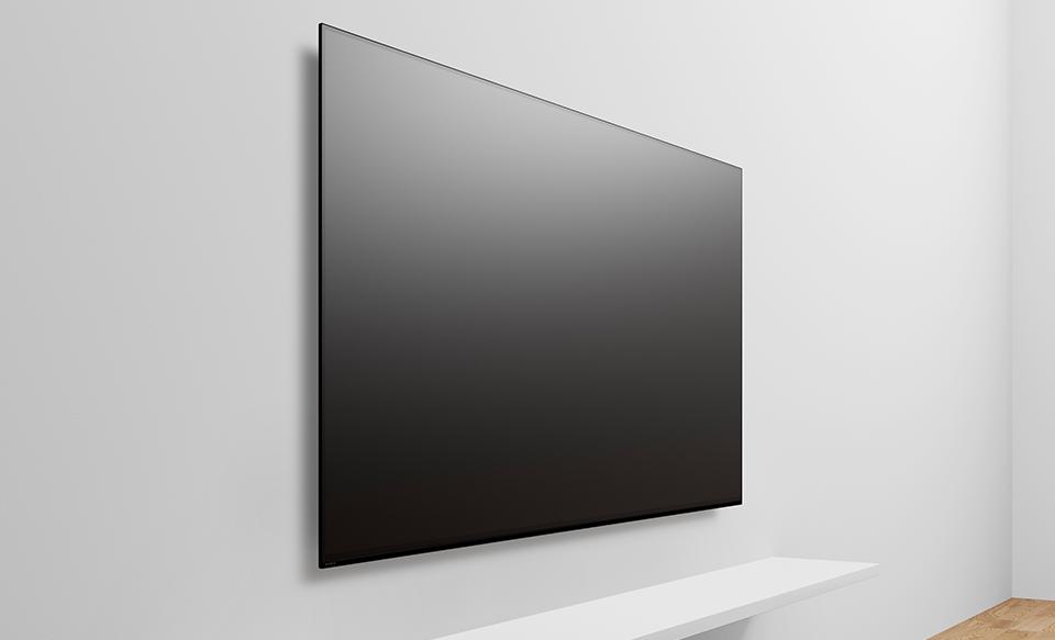 Телевизор на стене словно произведение искусства
