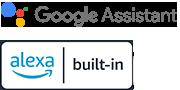 Логотипы Google Assistant и Alexa