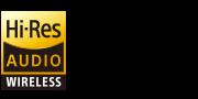 Логотипы технологий беспроводной передачи аудио высокого разрешения Hi-Res Audio Wireless и LDAC