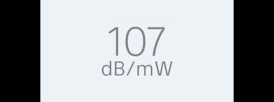 Чувствительность 107дБ/мВт