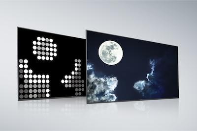 Задняя панель и экран телевизора с полной прямой подсветкой и X-tended Dynamic Range PRO от Sony