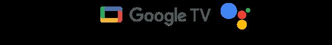 Логотипы Google TV и Google Assistant