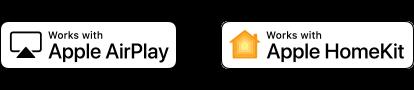 Логотипы Apple AirPlay и Apple HomeKit