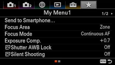 Использование параметров My Menu и My Dial