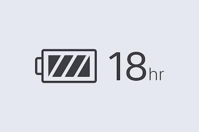 Значок, обозначающий 18часов работы от аккумулятора