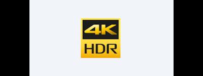 Логотип HDR (расширенный динамическоий диапазон 4K)