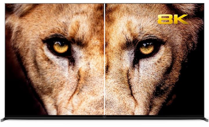 Изображение с головой льва, демонстрирующее разницу между разрешениями 4K и 8K.