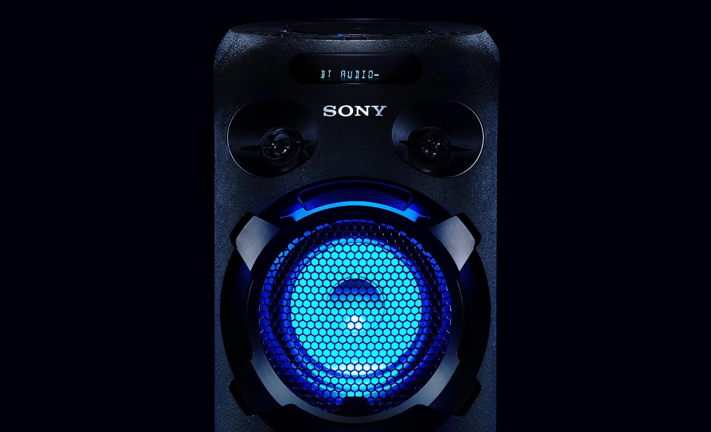 Подсветка динамиков для ярких вечеринок Аудиосистема мощного звука Sony MHC-V02
