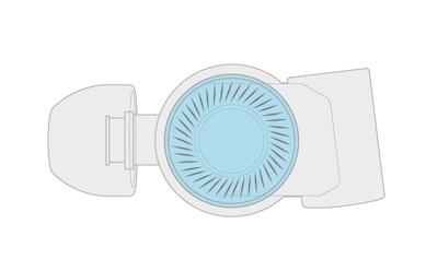 Диффузор из ЖК-полимера с алюминиевым напылением