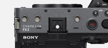 Изображение отверстий для винтов на верхней панели корпуса камеры FX3