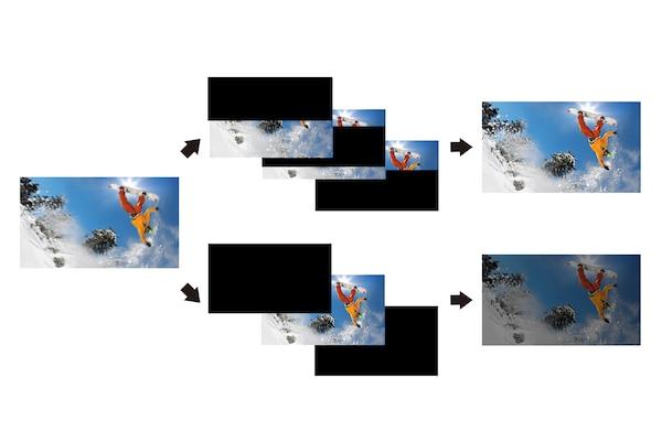 Детальное изображение быстро движущегося автомобиля благодаря X-Motion Clarity