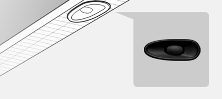 Изображение расположения динамика X-balanced speaker™