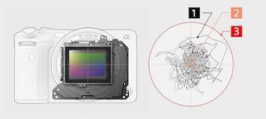 Изображение конструкции оптического стабилизатора Optical SteadyShot