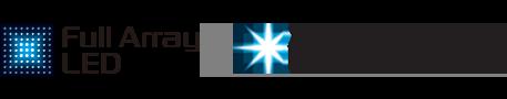 Логотипы Full Array LED и X-tended Dynamic Range