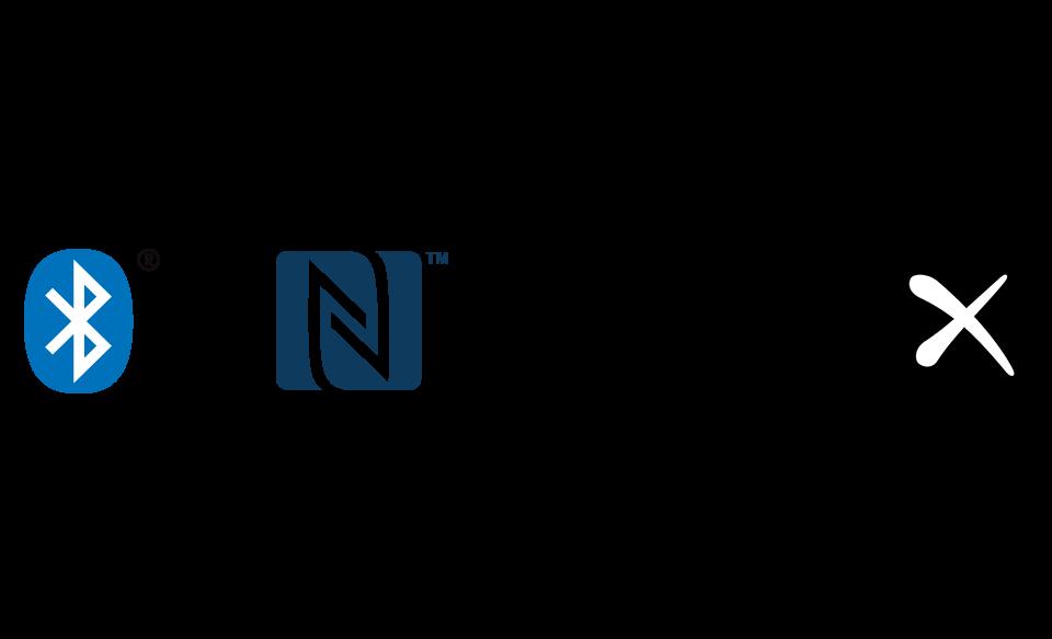 Логотипы Bluetooth®, NFC™ и Qualcomm® aptX™ HD