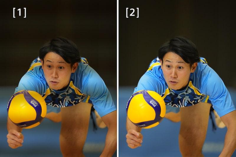 Изображение с АФ на волейболисте, который ставит блок
