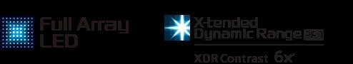 Логотипы «ковровой» LED-подсветки и X-tended Dynamic Range