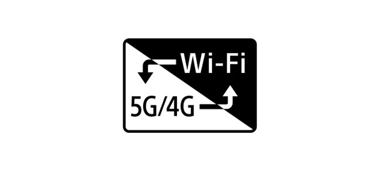 Логотип 5G/4G и Wi-Fi