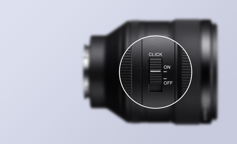SEL85F14GM Переключатель режима фокусировки, кнопка удержания фокусировки и кольцо диафрагмы с переключателем щелчков