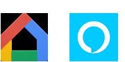 Логотипы Google Home и Amazon Alexa