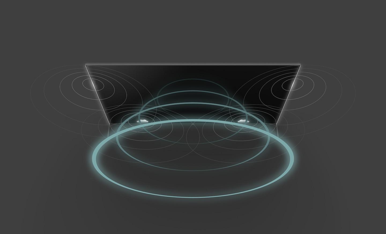 Как система Acoustic Multi-Audio с вибрирующими высокочастотными динамиками передает звук в правильном месте на экране